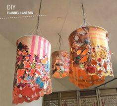 DIY Flannel Lanterns via Green Wedding Shoes