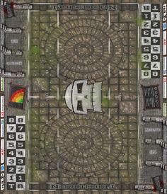 Fantasy Football Spielfeld - Alter Tempel II