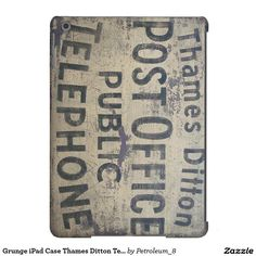 Grunge iPad Case Thames Ditton Telephone