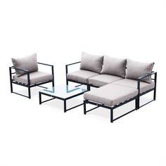 Iron Furniture, Outdoor Lounge Furniture, Sofa Furniture, Pallet Furniture, Living Room Furniture, Furniture Design, Wooden Sofa Designs, Garden Sofa Set, Living Room Sofa Design