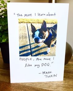 A personal favorite from my Etsy shop https://www.etsy.com/listing/510660804/boston-terrier-card-funny-card-dog-card