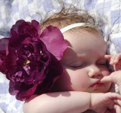 Purple Large Flower Hair Clip Hair Accessory by j0sgirl on Etsy, $6.99