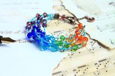 Rainbow Bracelet Colorful Multi Strand Bracelet от byHamelin