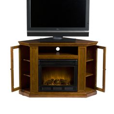 1000 images about corner tv stands for small spaces on pinterest corner tv stands corner - Space saving corner electric fireplace providing warmth for your small space ...