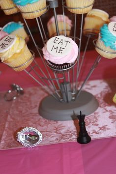 Alice in Wonderland Bridal Shower eat me cupcakes