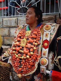 Khampa man in Finest Costume at Khampa Arts Festival 2004 | ©  BetterWorld2010