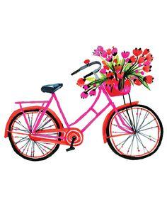 Pink bike by CarolynGavinShop on Etsy