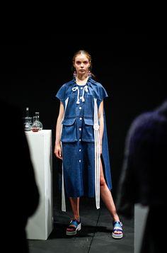 Min Wu SS16 London Fashion Week presentation at ICA  Photo by Emmi Hyyppa