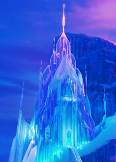 Elsa's Ice Palace was created by Elsa the Snow Queen in the Disney animated film Frozen. The Ice Castle was created by Elsa as practice for her powers on the North Mountain a day's walk away from Arendelle. Frozen Disney, Disney Pixar, Princesa Disney Frozen, Film Frozen, Elsa Frozen, Disney And Dreamworks, Disney Love, Disney Animation, Disney Magic