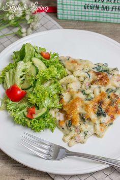 Salat mit roquefort dressing