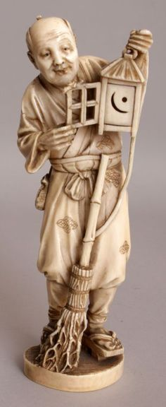 A GOOD QUALITY SIGNED JAPANESE MEIJI PERIOD IVORY OKIMONO OF