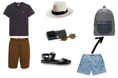Look para viajar a la playa.