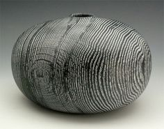 B Pinstriped Vessel by Andy DiPietro
