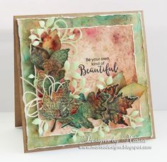 Designs by Marisa: JustRite Papercraft - Autumn Leaves Card