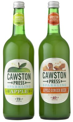 CAWSTON PRESS SPARKLING APPLE APPLE GINGER BEER 750ML BOTTLES