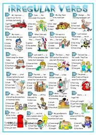 irregular verbs worksheet for kids - Google Search