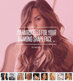 23 #Hairstyles for Your #Diamond Shape Face ... - #Hair