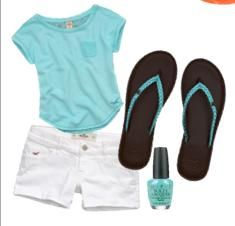 Hollister summer clothes out online!! #blue #love