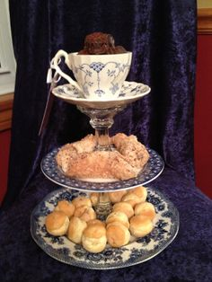 Blue and White China Serving Tier by TiersfromTime on Etsy, $40.00   clever idea