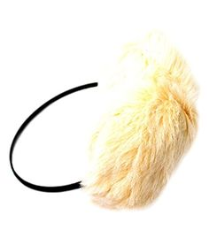 Lovely Ivory Fuzzy Earmuffs -- Awesome products selected by Anna Churchill