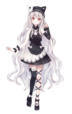 Manga girl - white hair - gothic - neko hat Tap the link Now - The B . Manga girl – white hair – gothic – neko hat Tap the link Now – The Best Cat Products We Found Worldwide! Anime Neko, Manga Anime, Kawaii Anime Girl, Anime Girls, Anime Girl Cute, Beautiful Anime Girl, Anime Art Girl, Anime Love, Gothic Anime Girl
