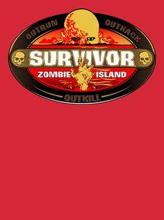 Survivor t-shirt Zombie Island  Funny Reality by VincentCarrozza