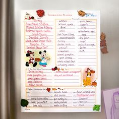 The Disney Diner: FREE Printable Disney Thanksgiving Day Planner