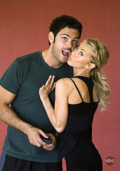Chuck Wicks and Juilanne Hough