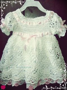 How to Crochet baby party dress - Crochet Earwarmers Baby Girl Crochet, Crochet For Kids, Flower Hair Bows, Baby Dress Patterns, Baby Christening, Baby Gown, Crochet Stitches Patterns, Knitting Patterns, Crochet Videos