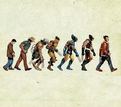 Evolução Wolverine X-man X man Marvel