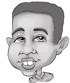 A digital caricature we did for a customers son. This was done from Jennifer the caricature artist Caricature Artist, Mood, Portrait, Digital, Illustration, Headshot Photography, Portrait Paintings, Illustrations, Drawings