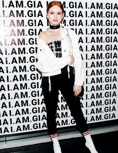 Madelaine Petsch attends the I.AM.Gia launch event in Los Angeles (November 11)