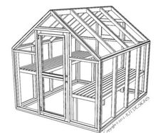 6'10 x 8'0 Greenhouse Plans Printed Version by rjterry on Etsy