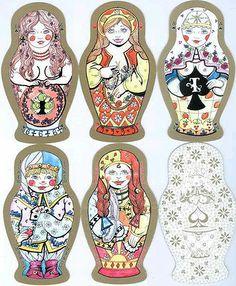 Special Russian Playing Cards Matryoshka Nesting Dolls Shape | eBay