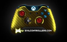XboxOneController-YellowSilverCarbonFiber | Flickr - Photo Sharing! #XboxOneController #Xbox1Controller #CustomXboxOneController #ModdedXboxOneController #CustomController #moddedcontroller