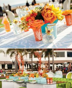 Modern Beach Wedding at Hotel del Coronado.  I like some of the more modern elements that still capture a beach theme without being TOO beachy themed