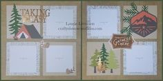 Fresh Air Scrapbook Layouts! | Crafty Sisters Creations