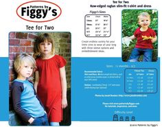 Tee for Two (Small sizes) in PDF format now available on Craftsy.com! I want to try this...love raglan sleeves!