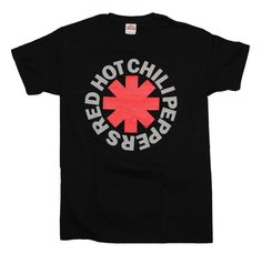 Officially licensed Red Hot Chili Peppers t-shirt featuring the iconic RHCP asterisk on the front of the t-shirt. Men's regular fit, 100% cotton t-shirt. Black.