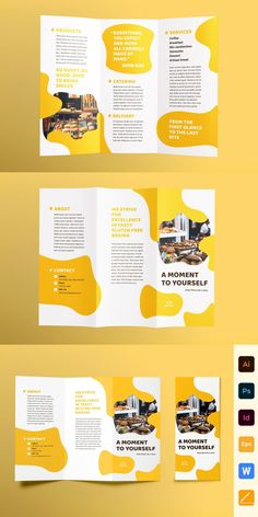 Save your money and get this product as a part of such bundles: - Bakery Cafe Print Pack – - Business Proposal Brochure Templates – - Entire Shop Bundle – Graphic Design Brochure, Brochure Layout, Brochure Trifold, Graphic Design Posters, Brochure Template, Corporate Brochure, Brochures, Pamphlet Design, Leaflet Design