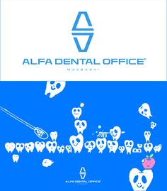 | Tittle_ALFA DENTAL OFFICE maebashi / Symbol Mark & Logo Type (2008) | Client_ALFA DENTAL OFFICE | Art Direction & Design_Masayuki Sato