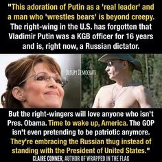 """It's rather odd that that these new republicans now support a """"communist"""" leader ? This woman & her fellow cronies are a disgrace."""