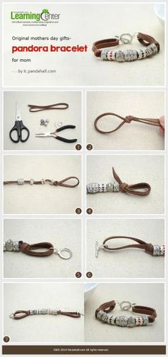 How to Make a Personalized Suede Cord Bracelet with Pandora Beads by wanting