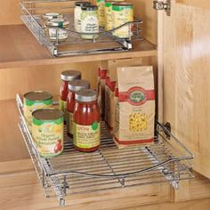 Roll-out Cabinet Drawers Keep tabs on what's in the back of that cabinet! Buy 2 & Save!