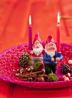 Christmas Candle holder gnomes from RICE