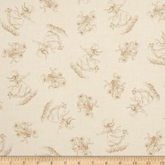Little House On The Prairie Girl & Bouquet Tan from @fabricdotcom  Designed and licensed by Friendly Family Productions for Andover, this reproduction cotton print is perfect for quilting, apparel and home décor accents. Colors include cream and tan.