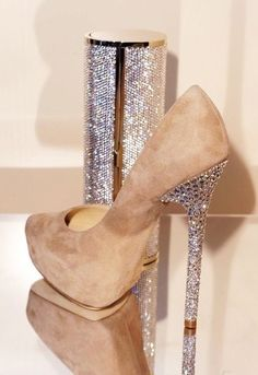 Fashion Brown Sequin High Heels for Girls Glitter Dream war heels for girls |2013 Fashion High Heels|