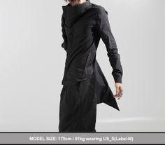 Avant garde mens fashion   Avant-Garde High Collar Shirts - New and Stylish - Fast Mens Fashion ...