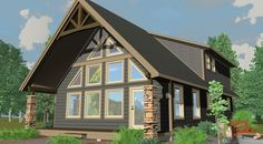 The Vancouver Master Suite - Prefab Cabin and Cottage Plans Cabin House Plans, New House Plans, Dream House Plans, Small House Plans, Prefabricated Cabins, Prefab Homes, Cabin Homes, Log Homes, Tiny Homes
