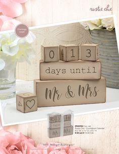 Count down to MR & MRS...great gift for the newly engaged couples.